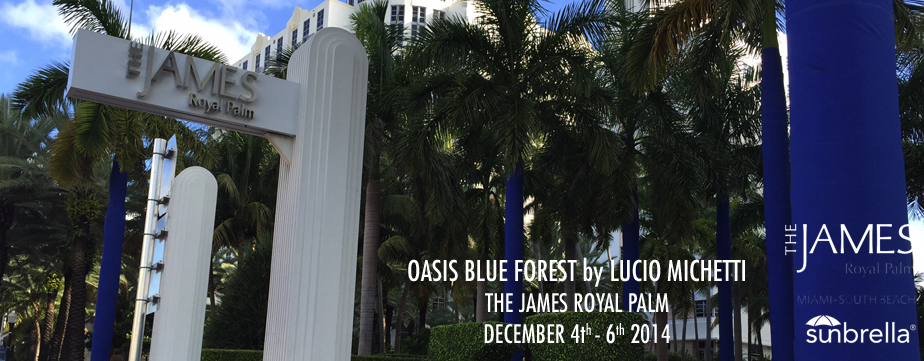 OASIS BLUE FOREST by LUCIO MICHELETTI @ THE JAMES PALACE